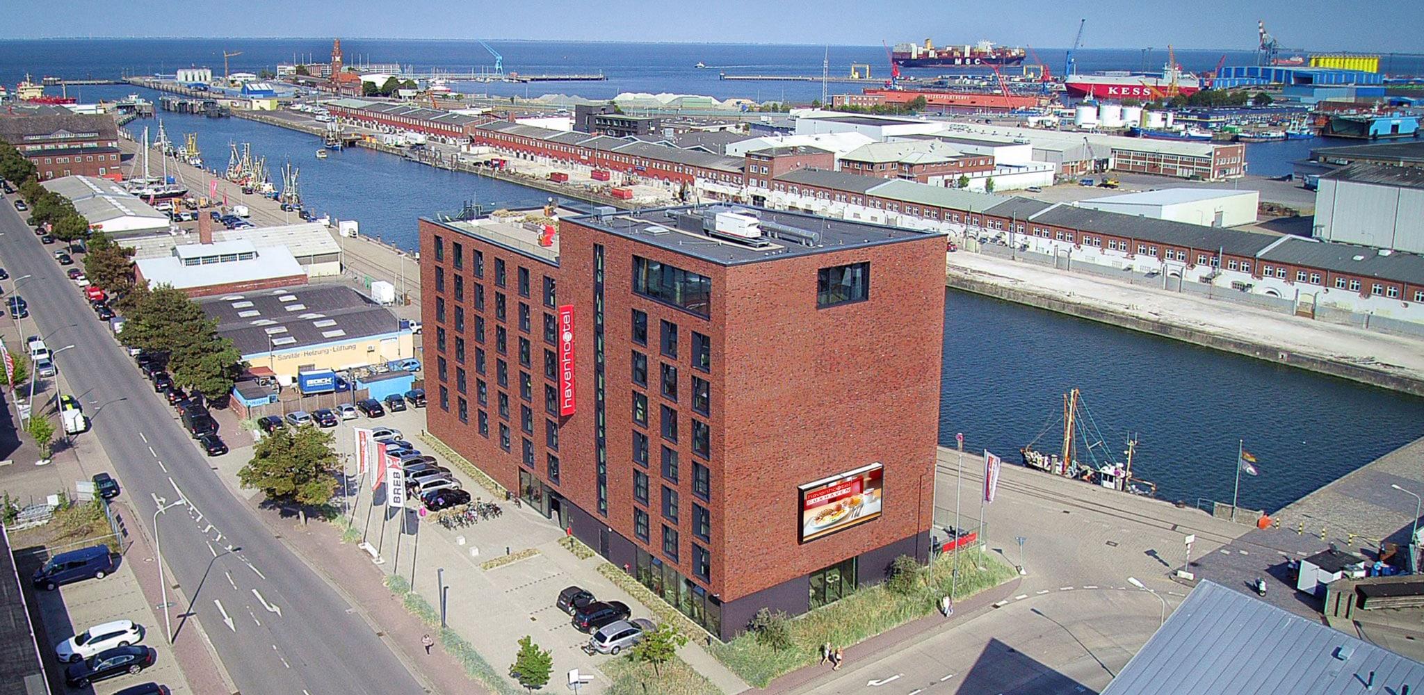 havenhostel Cuxhaven Luftbild
